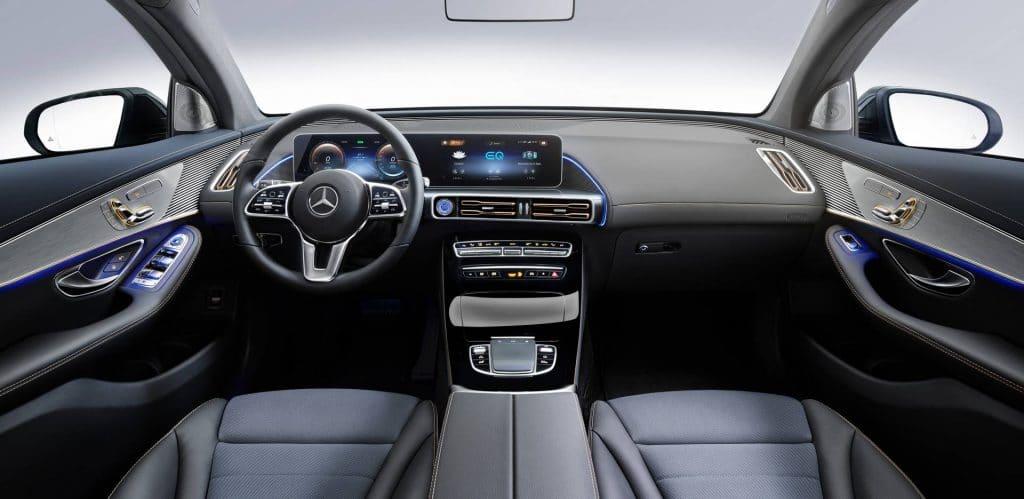 Mercedes benz EQC interiors