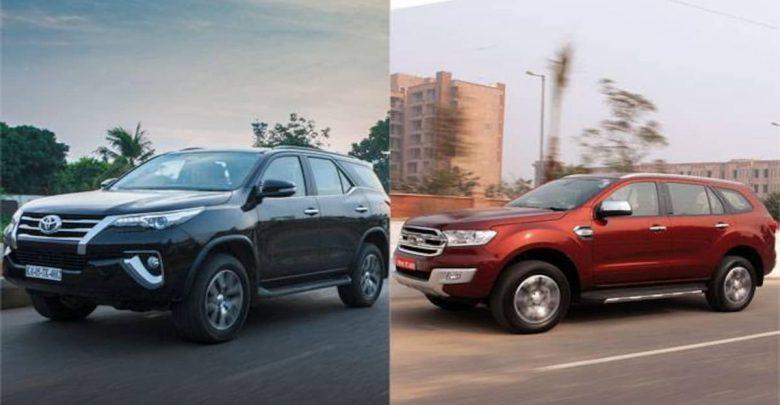 Toyota Fortuner vs Ford Endeavour Comparison