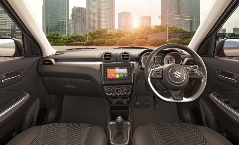 Maruti Suzuki Swift comes with a 7-inch touchscreen infotainment system with SmartPlay Studio