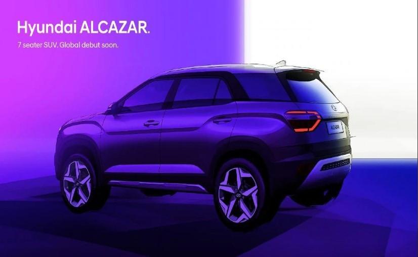 Hyundai Alcazar exterior design sketch