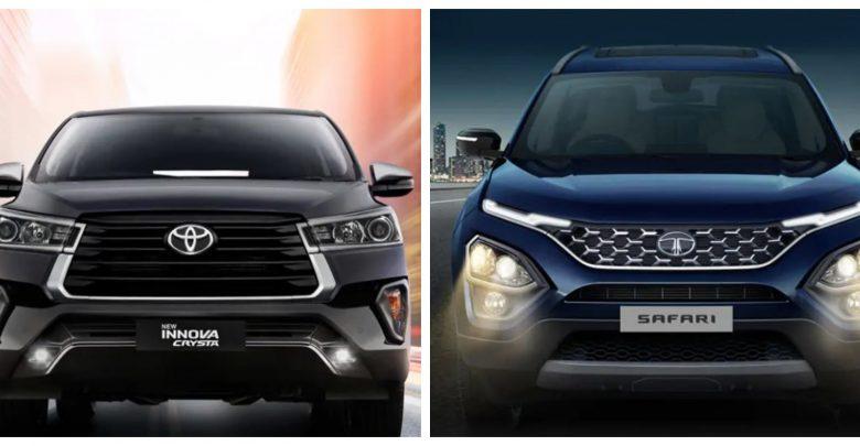 Innova Crysta vs Tata Safari 2021