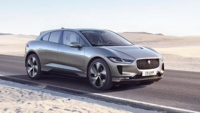 Jaguar I-Pace electric SUV on road