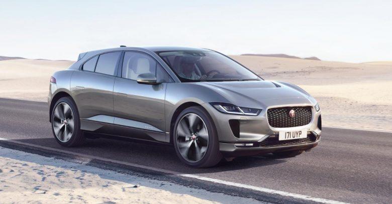 Jaguar I-Pace electric SUV on road