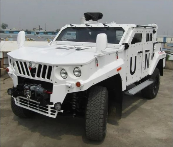 White color Mahindra Light Specialist Vehicle