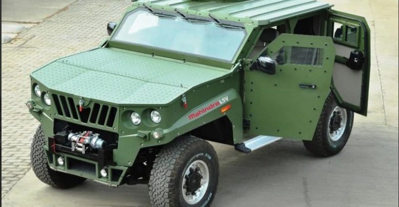 Green color Mahindra Light Specialist Vehicle