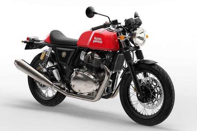 2021 Royal Enfield Continental GT in red color