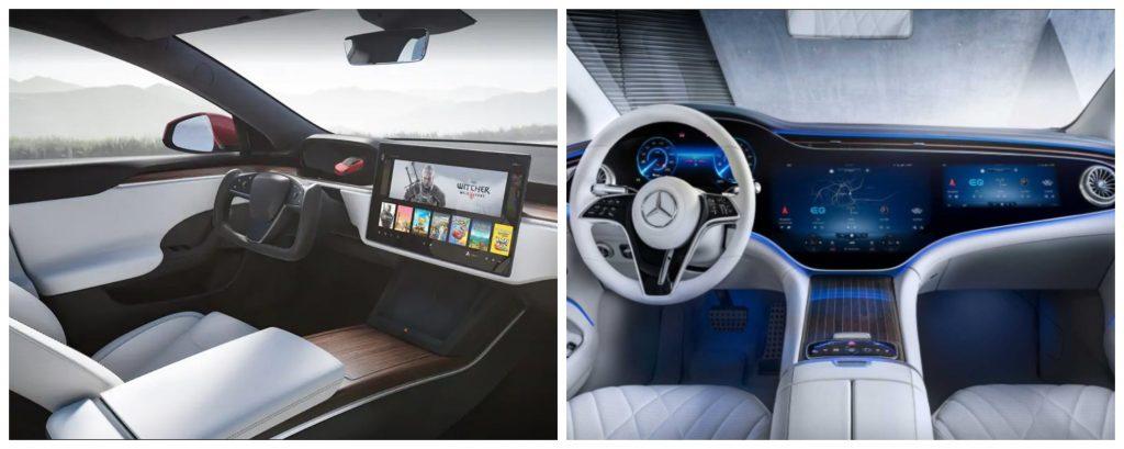 Model S vs EQS Interior