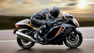 Rider on Suzuki Hayabusa