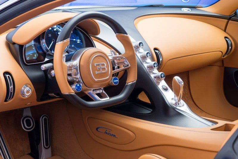 Bugatti Chiron Super Sport interior