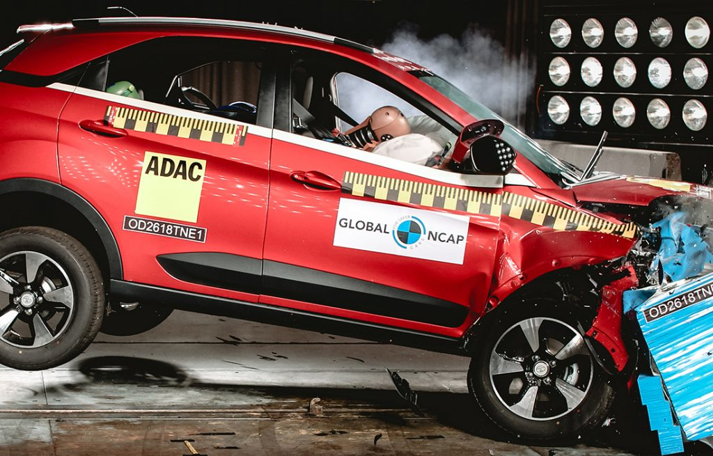 Tata Nexon the First Indian made car to achieve 5 Star Safety rating