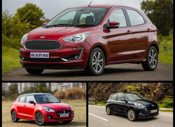 Ford Figo vs Other Automatic Hatches Specifications Compared